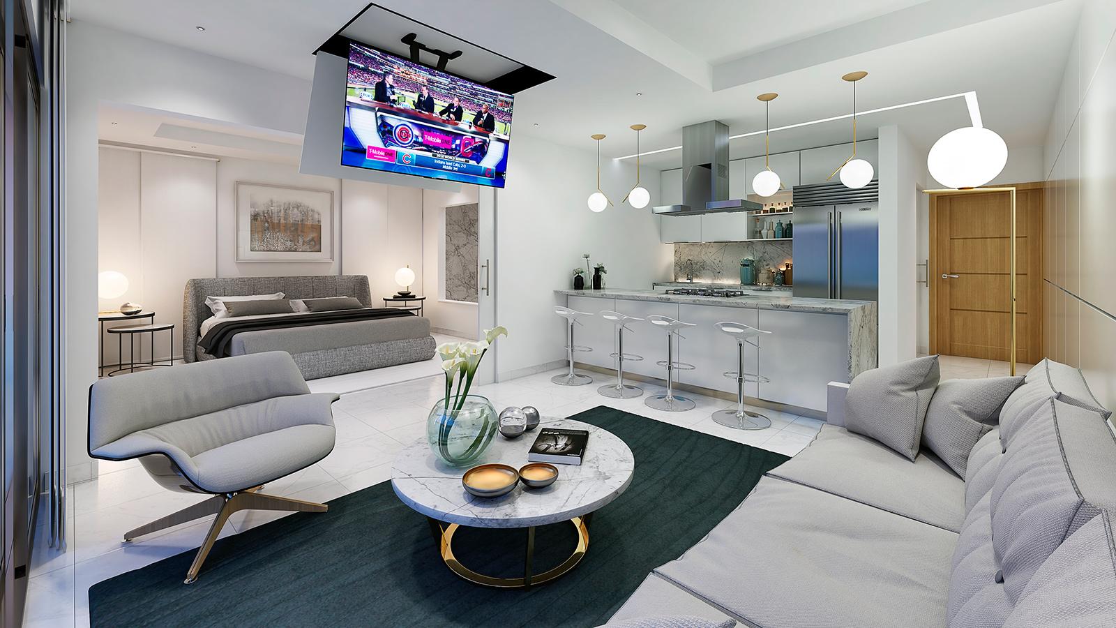Proyecto Condominio Condo hotel centrico lujoso y moderno en ensanche naco Corpbanck Inmobiliaria